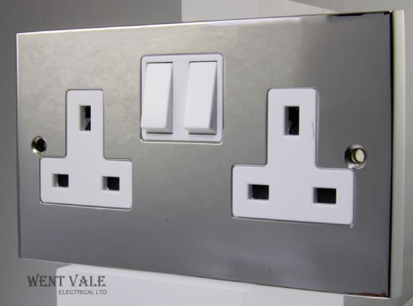 Heritage Brass Victorian Elite Range - R02.850.PCW - 13a Twin Switched Socket